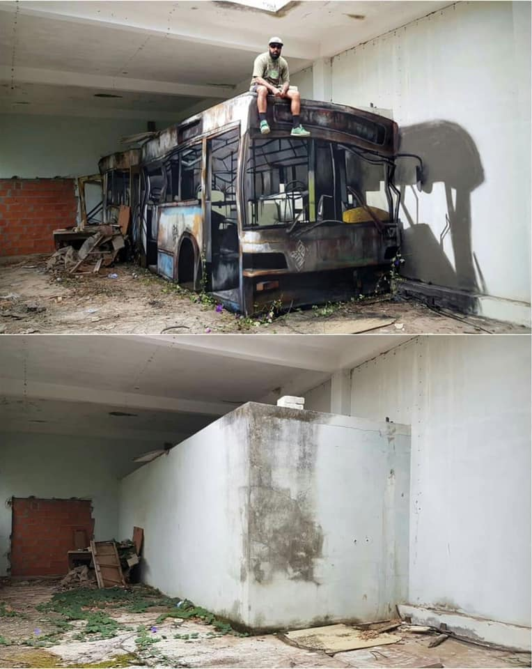 The Bus Created with Graffiti